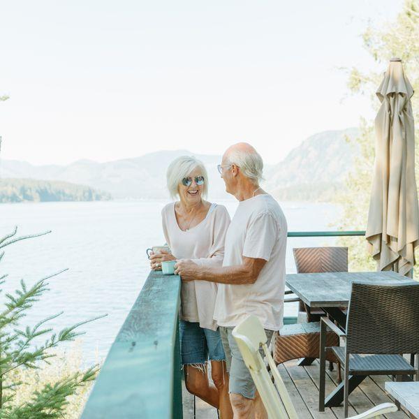 older couple having coffee
