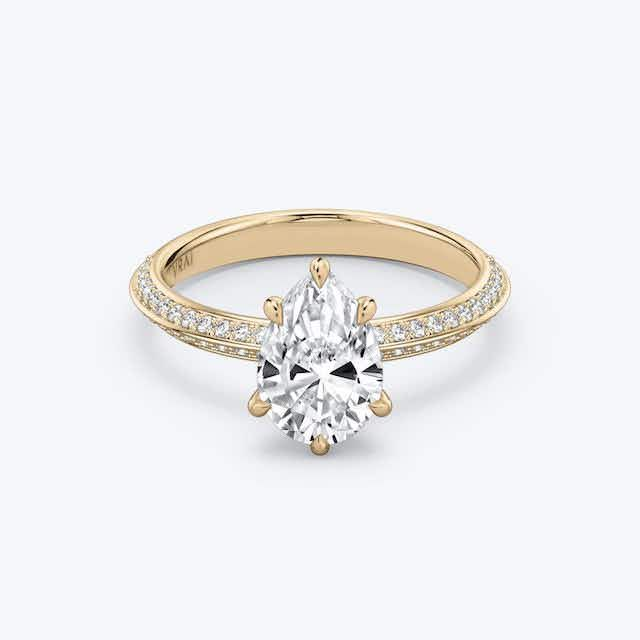 Vrai Knife-Edge Diamond Solitaire Ring