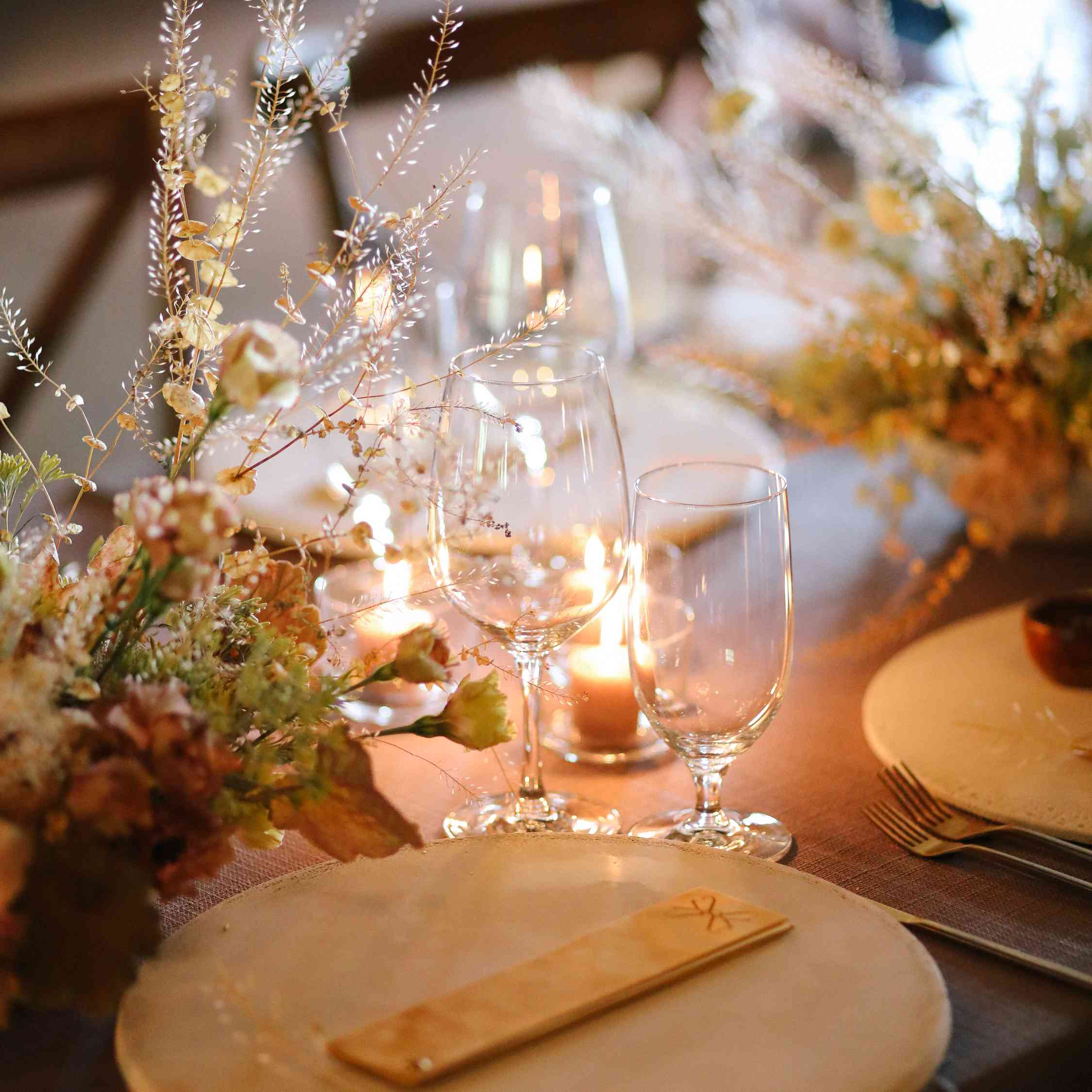 savannah and riker wedding, table setting
