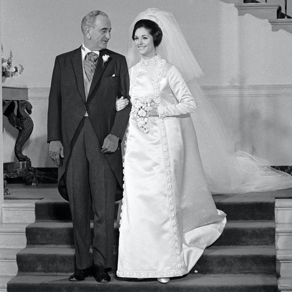 president johnson and daughter at wedding