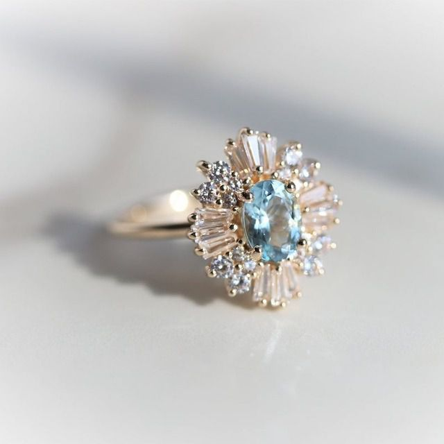 Emi Conner Jewelry Art Deco Inspired Cluster Engagement Ring