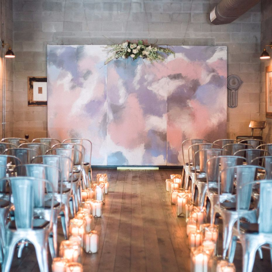 8 Stunning Hand-Painted Ceremony Backdrops