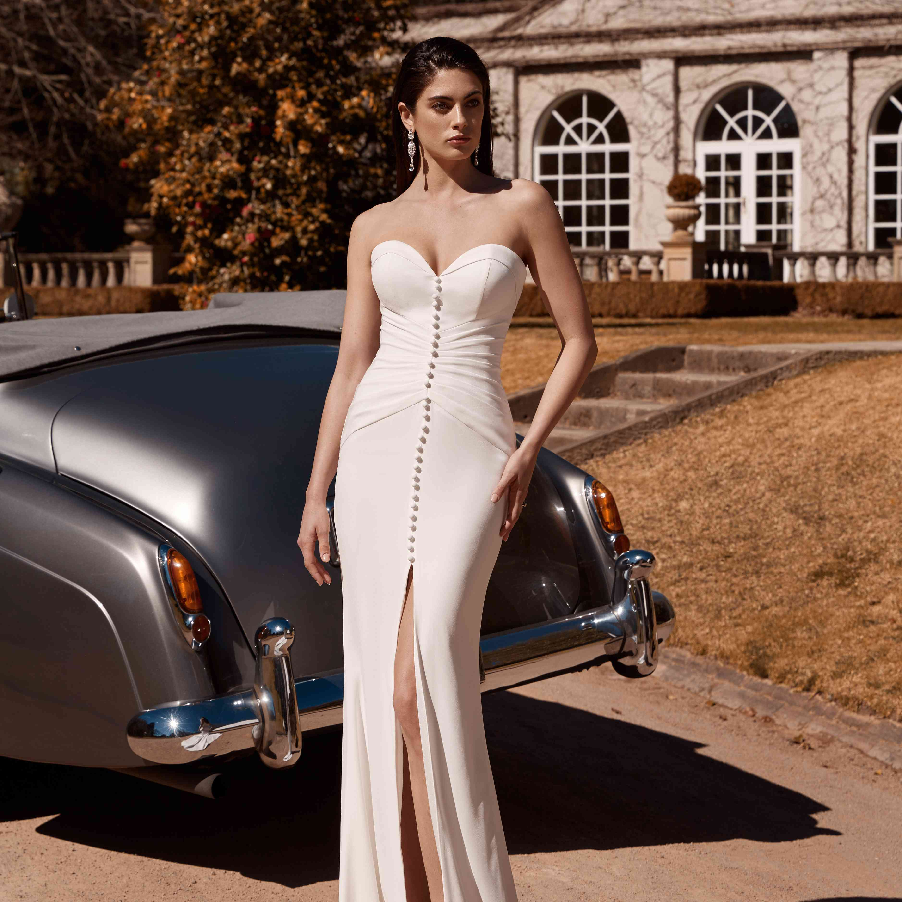 Ruby strapless wedding dress