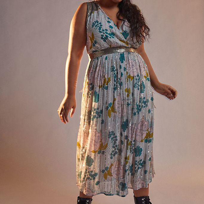 Anthropologie Sylvia Beaded Fringe Maxi Dress, $428