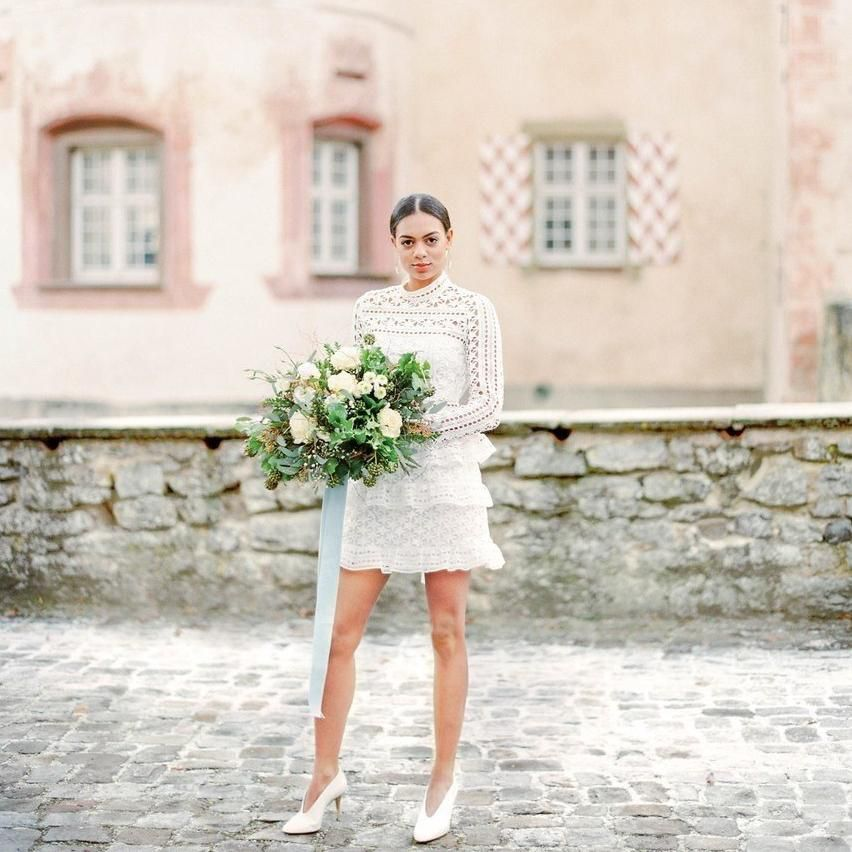 31 Chic Short Wedding Dresses You Can Buy Now