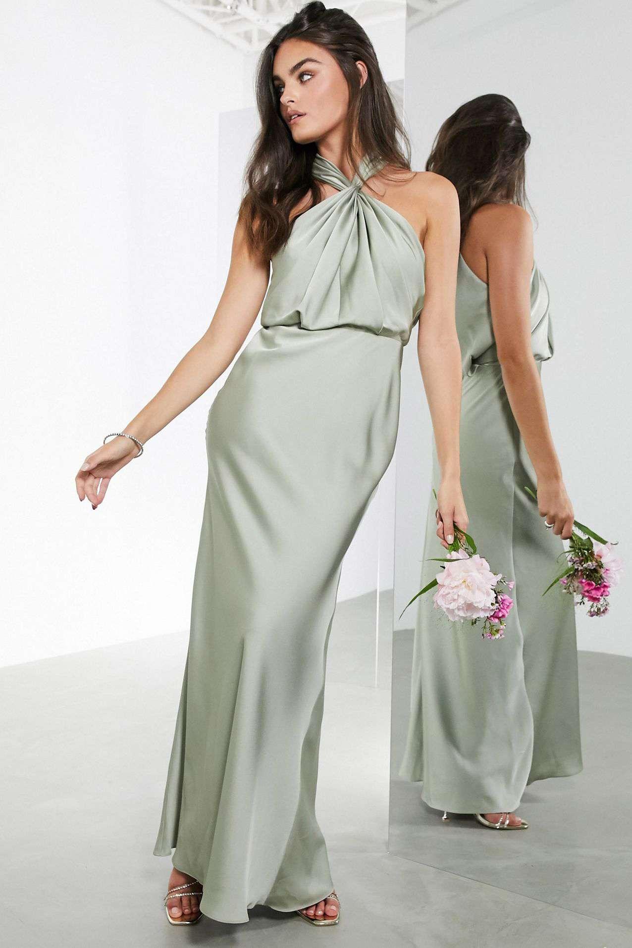 sage green bridesmaid dress