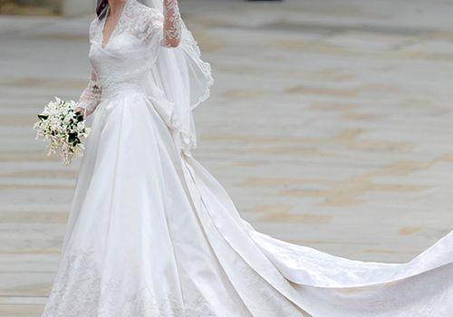 Kate Middleton in her wedding dress