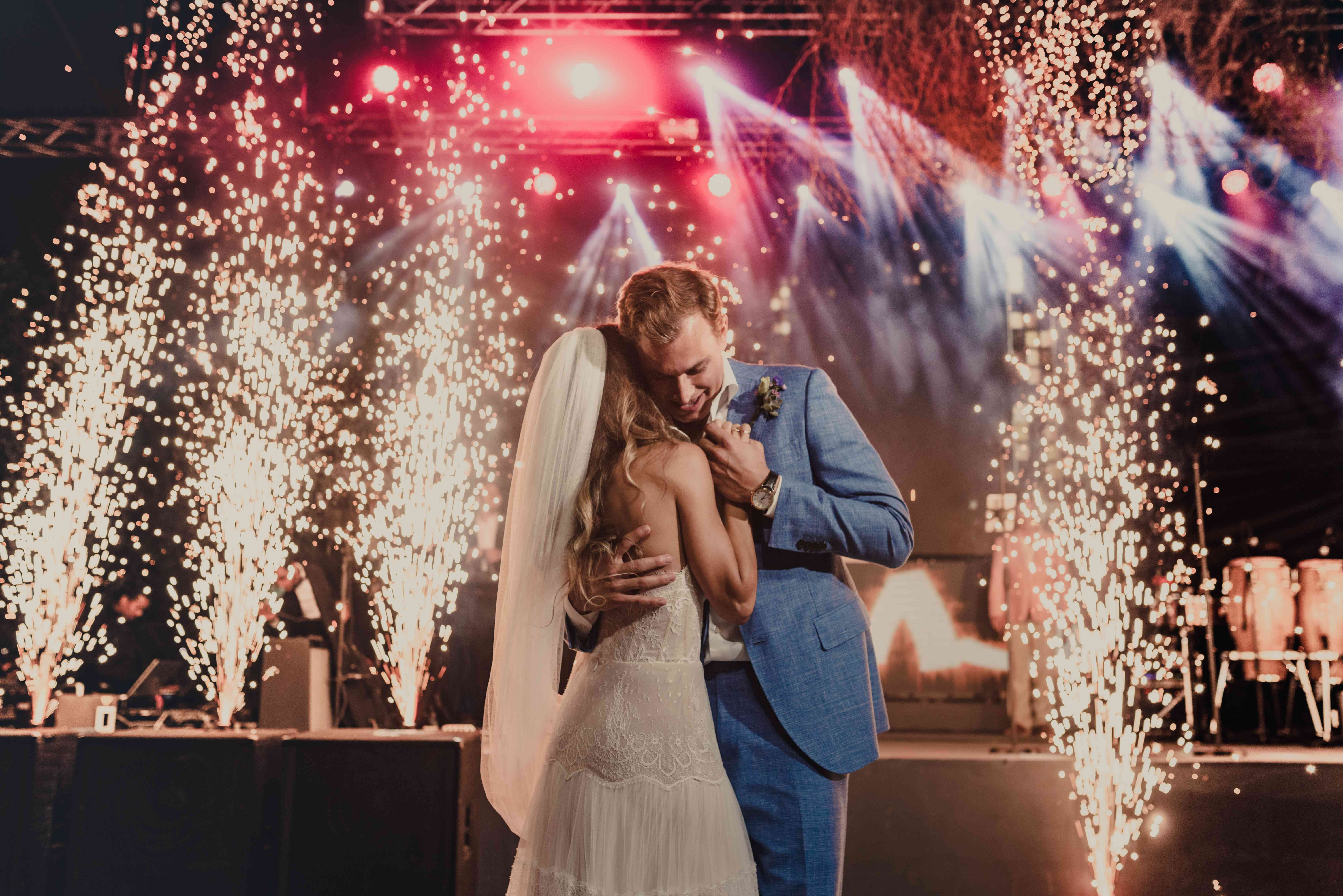 <p>first dance with pyrotechnic displays</p>