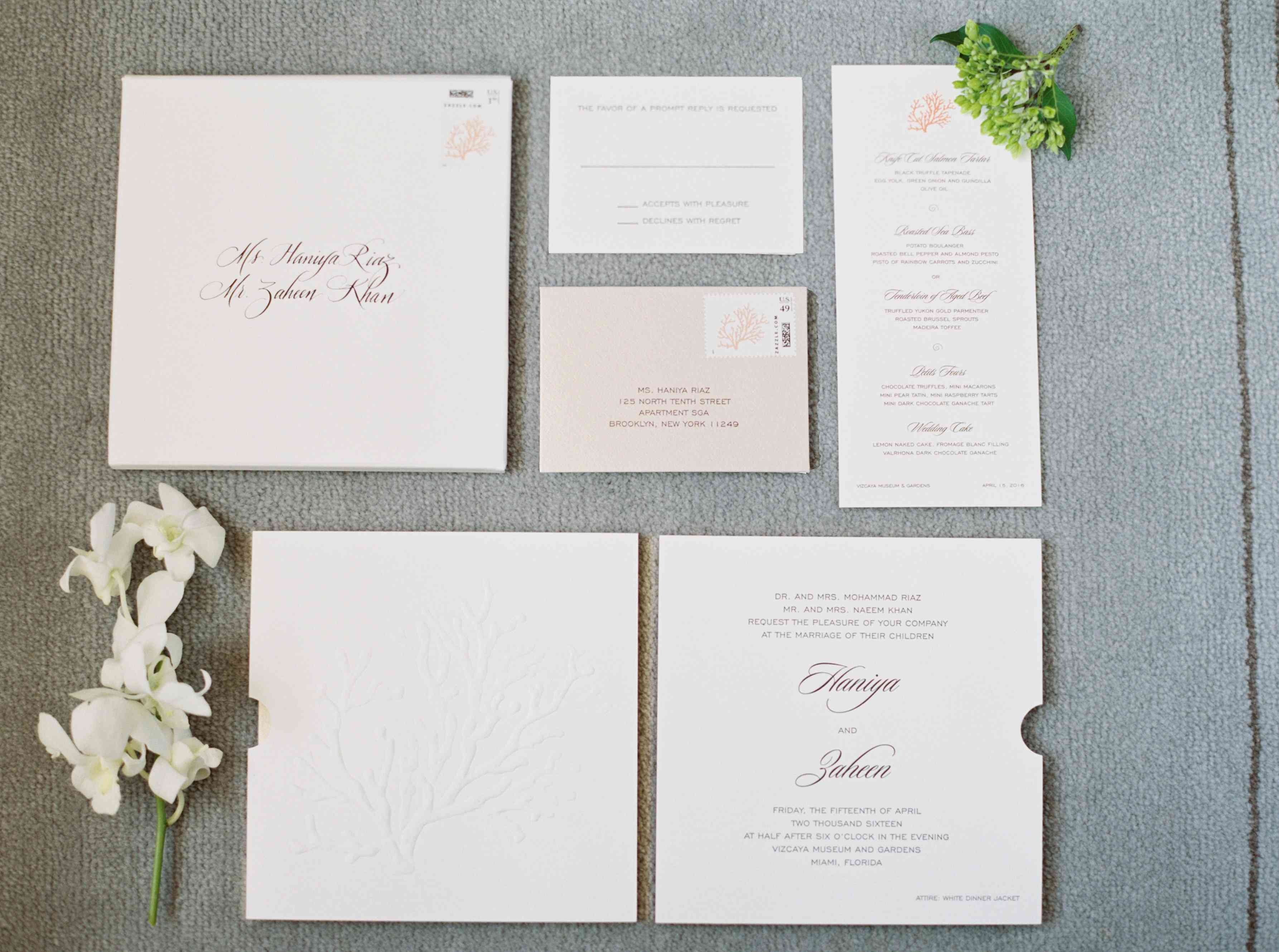 White Invitation Suite