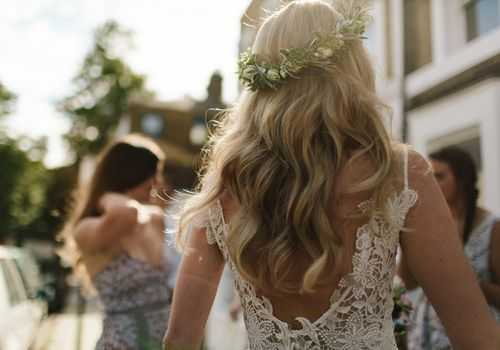 Shot of bride from the back
