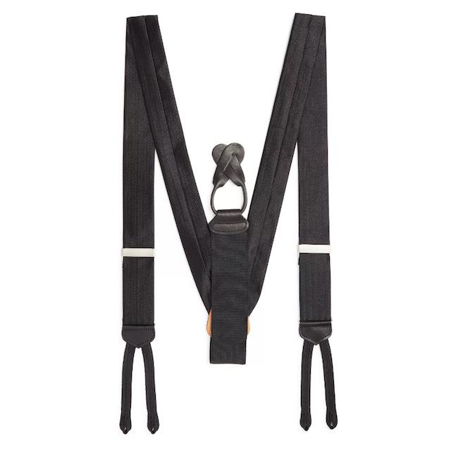 Herringbone Silk Suspenders