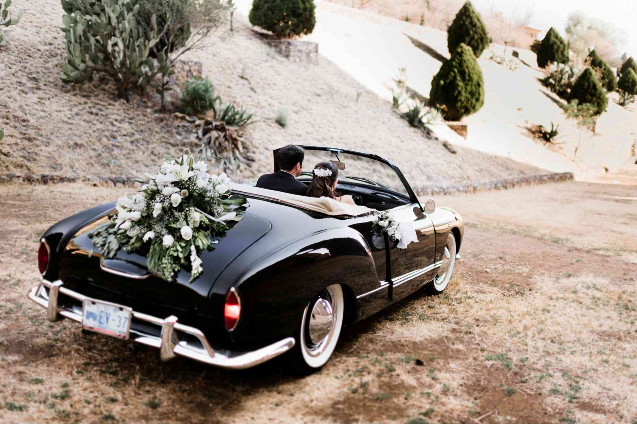 Floral-adorned convertible
