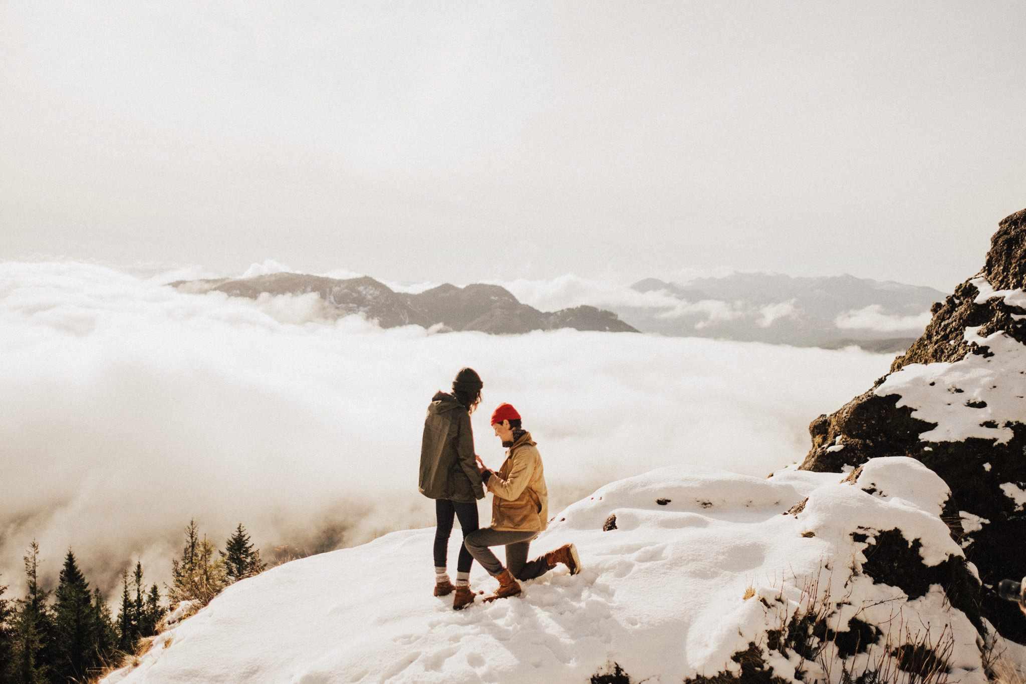 Proposal on a Snowy Mountain