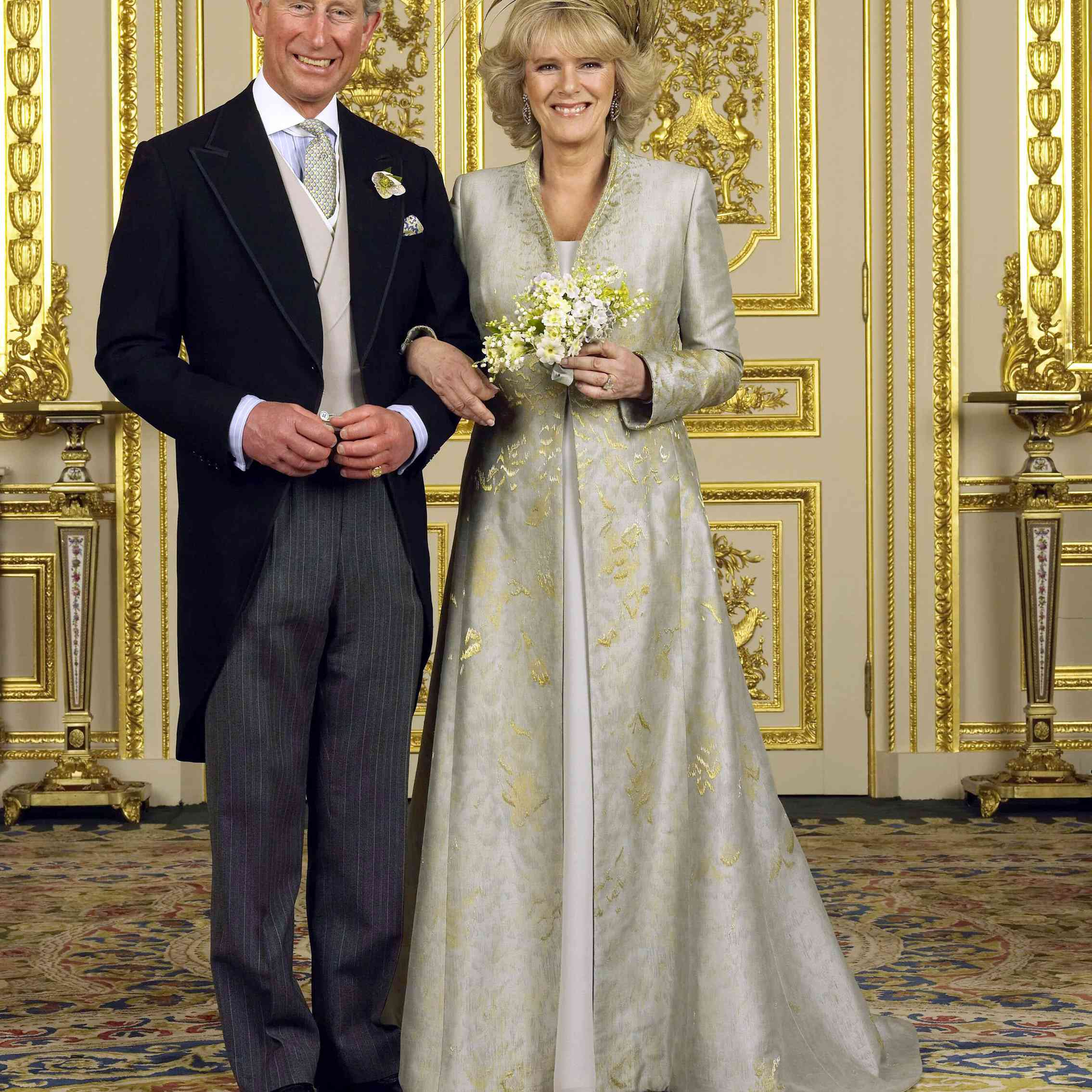 The Prince of Wales and Camilla, Duchess of Cornwall on their wedding day