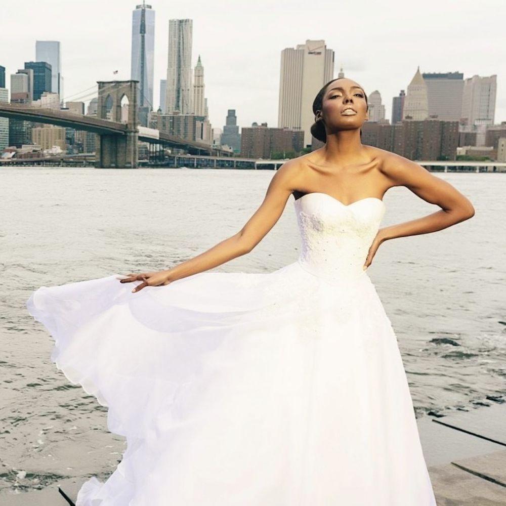 Kosibah Ophelia White Two-Piece Bridal Gown