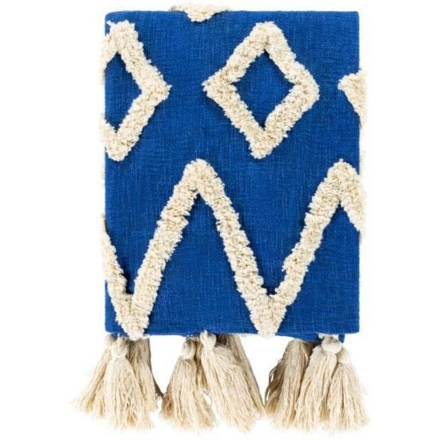 Jungalow Blue Throw Blanket