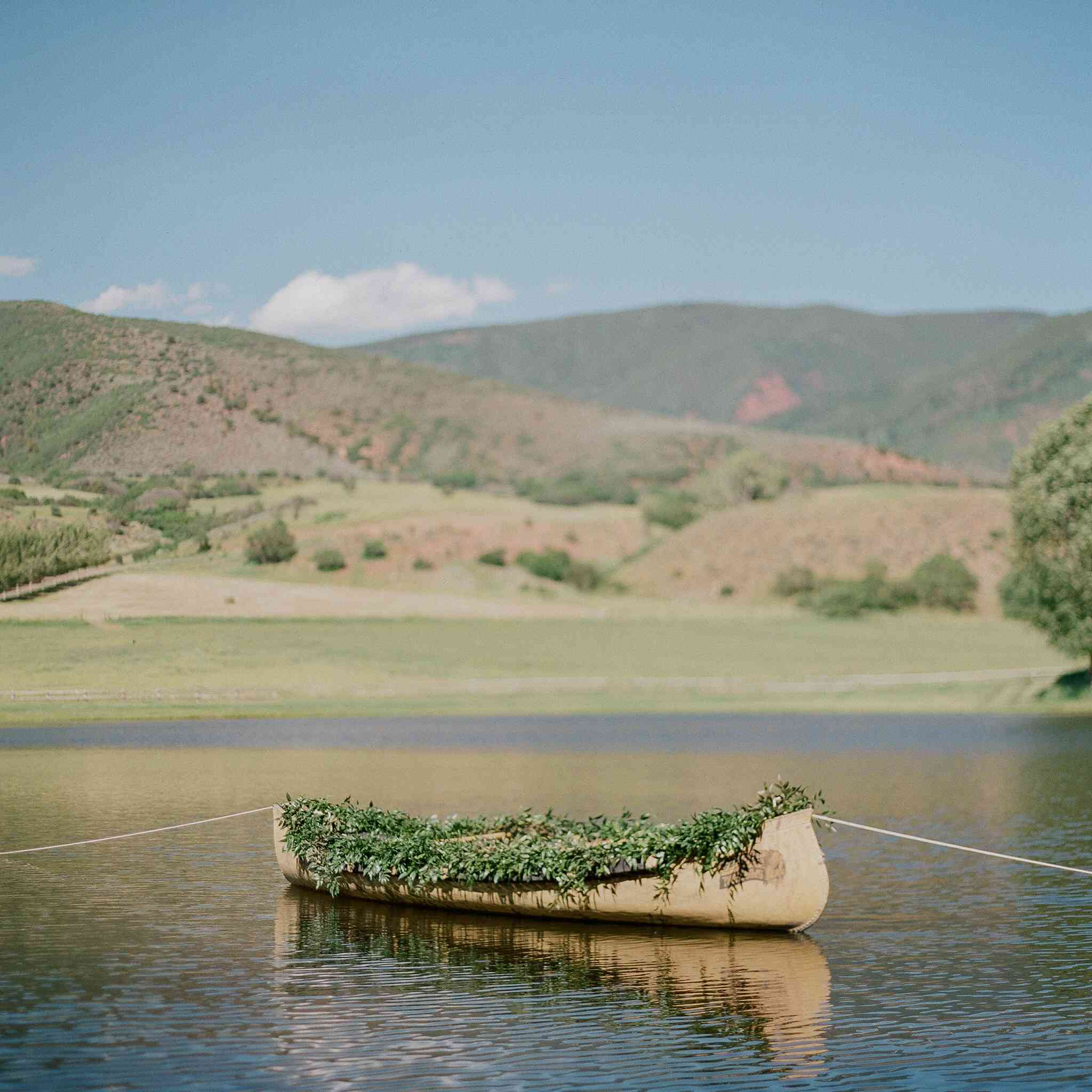 Canoe in river