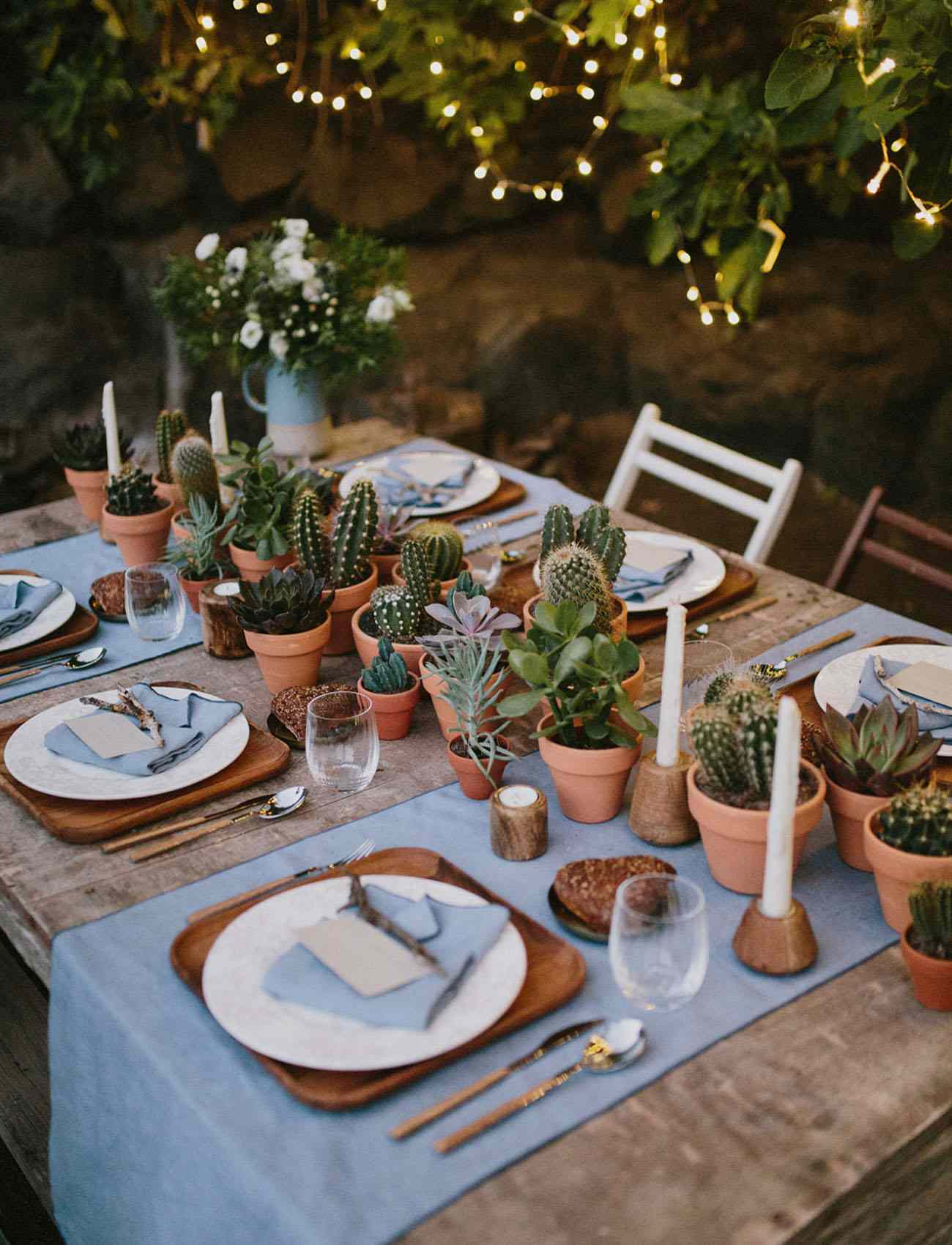Potted Cacti Wedding Centerpieces