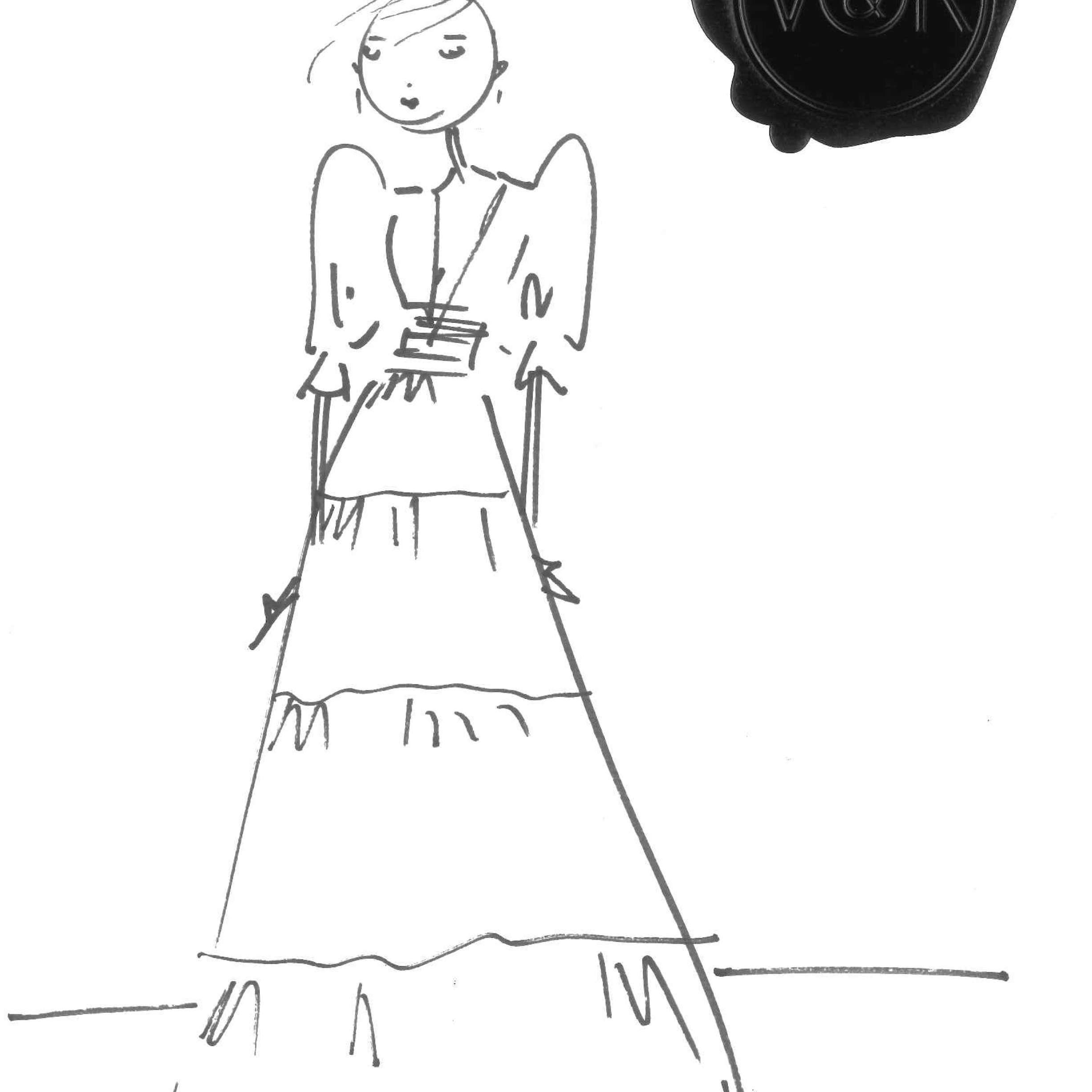 Viktor & Rolf Mariage Bridal Fashion Week Fall 2020 Sketch