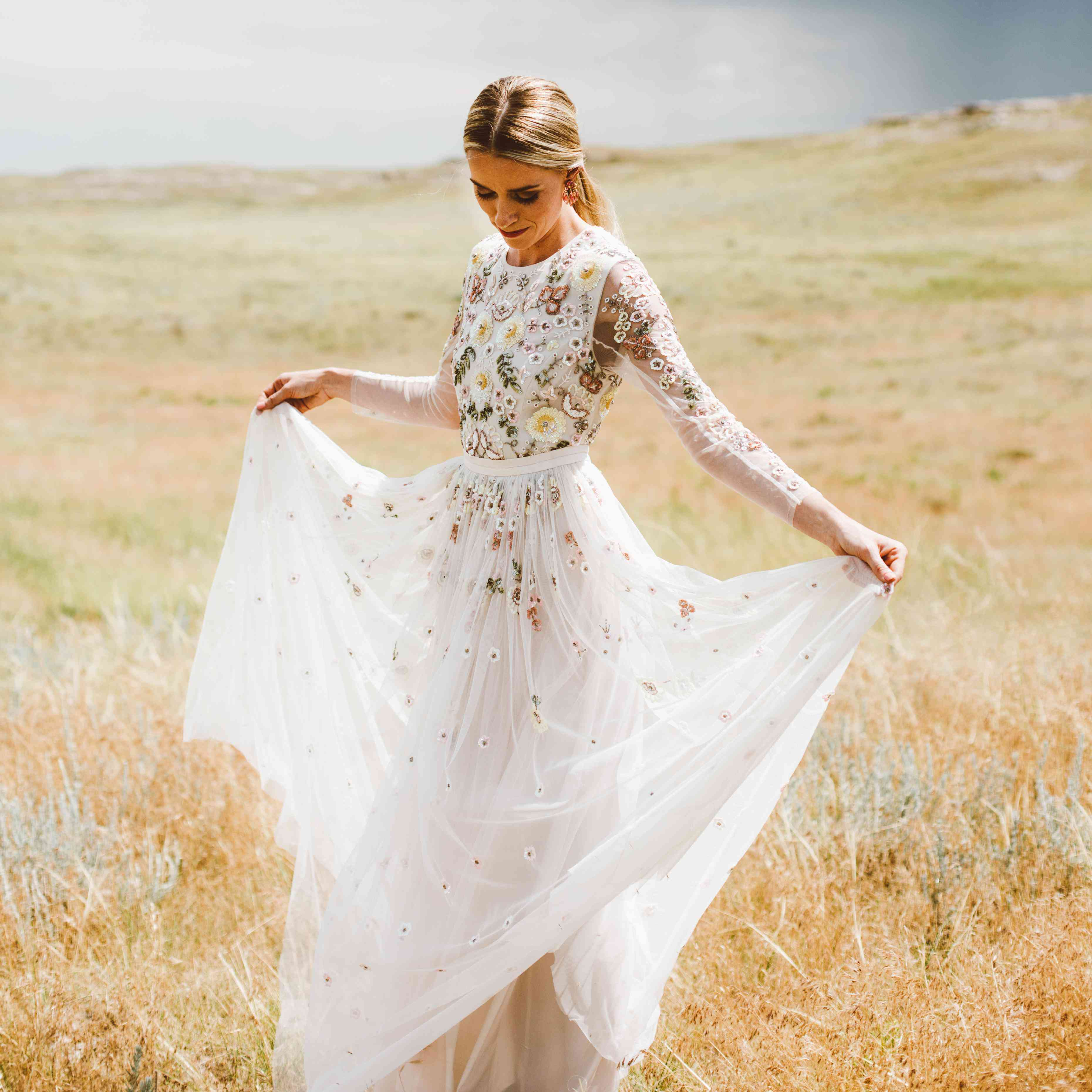Simple Wedding Dresses Eloping: These 13 Stylish Real Brides Wore Long Sleeves