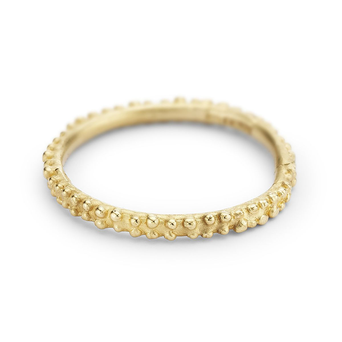 Ruth Tomlinson Yellow Gold Double Beaded Wedding Band
