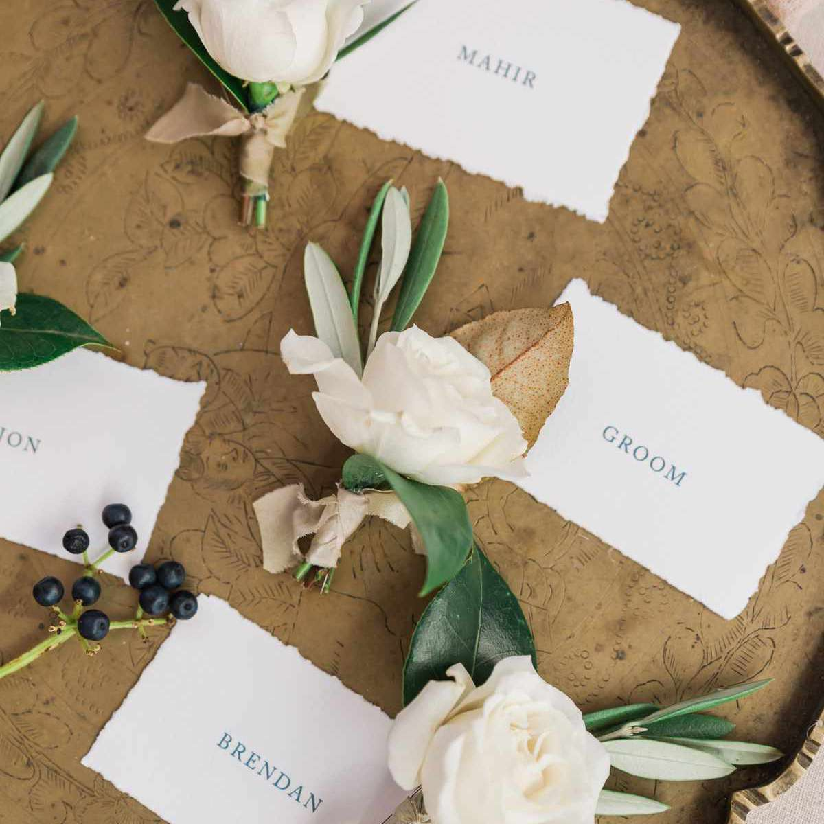 fall wedding boutonniere