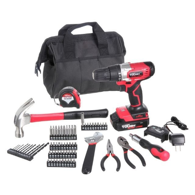 Hyper Tough Cordless Drill and Home Tool Set Project Kit
