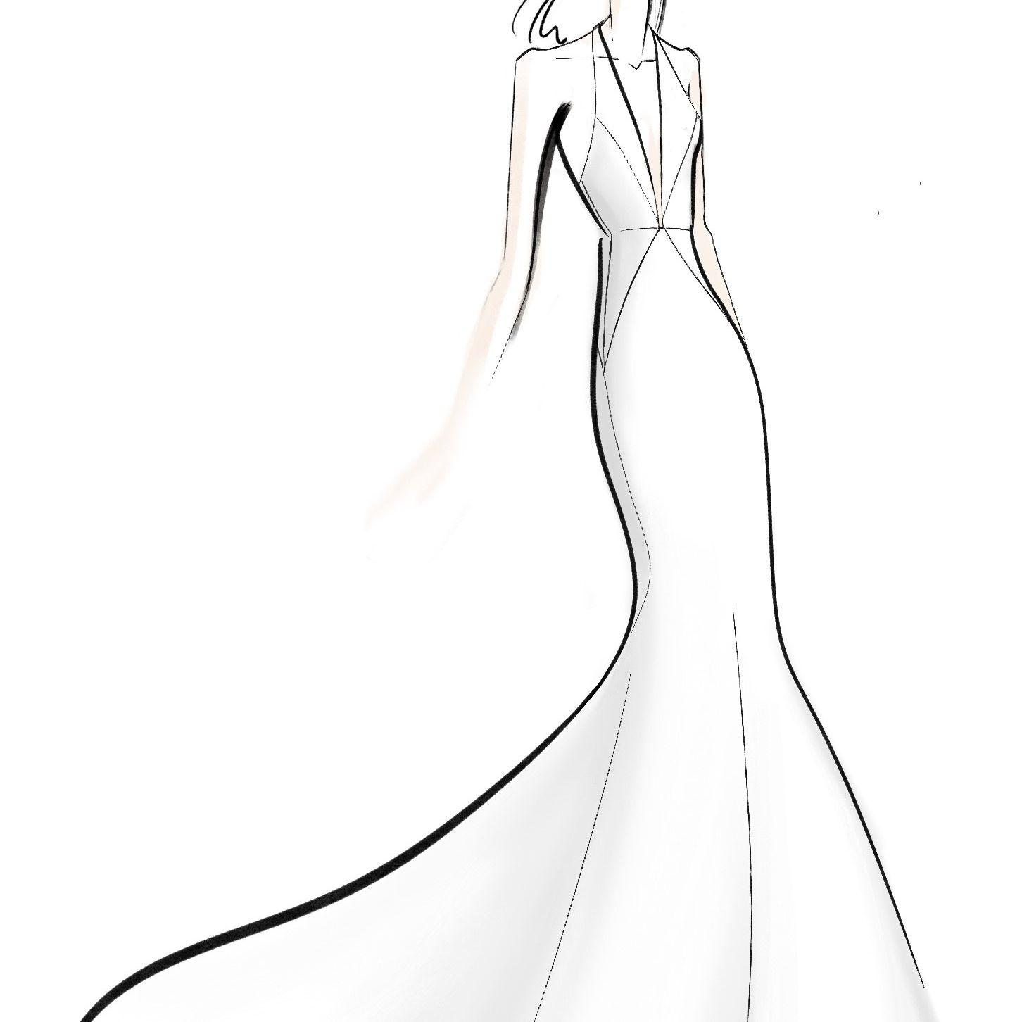 Jenny Yoo Bridal Fashion Week Fall 2020 Sketch