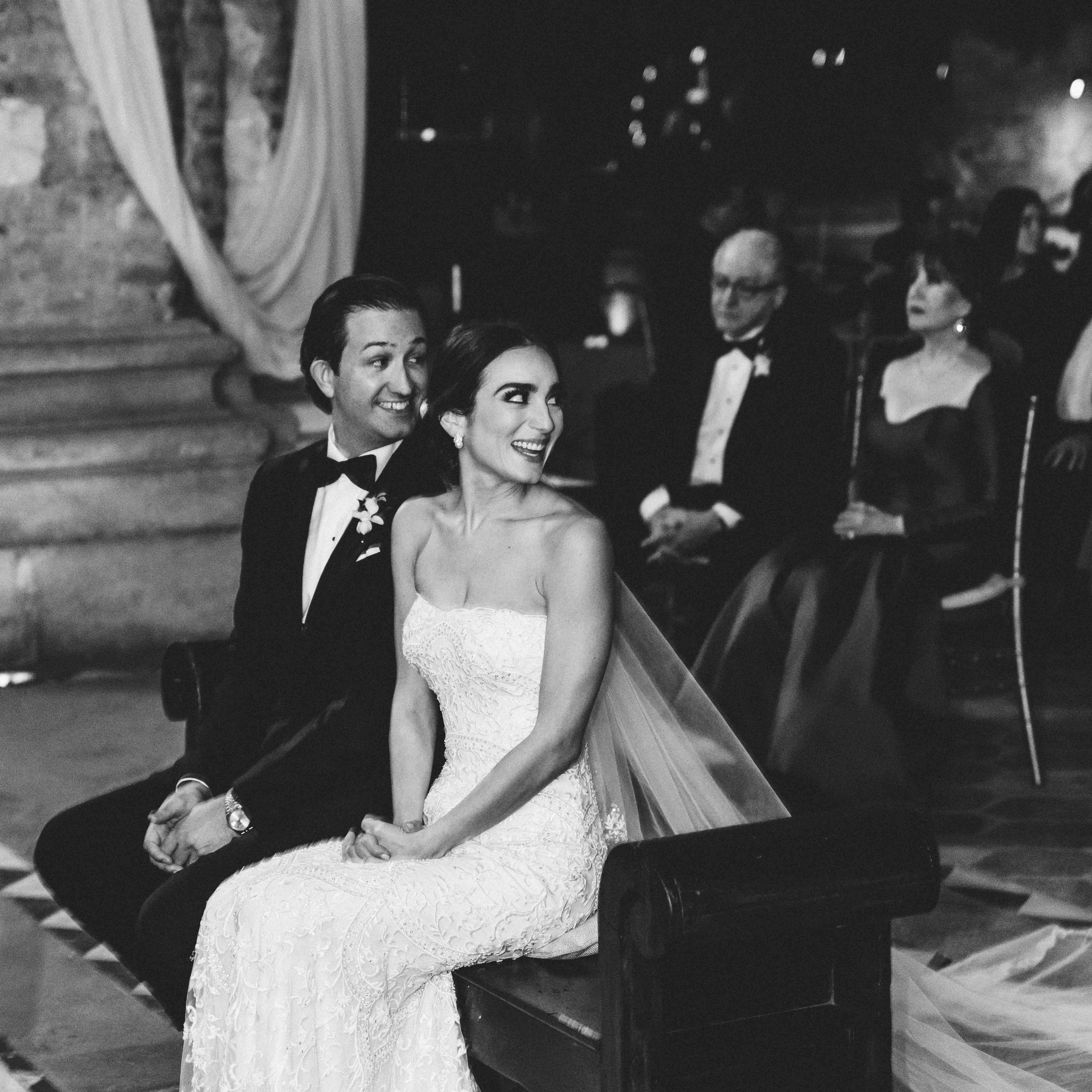 <p>bride and groom during ceremony</p><br><br>