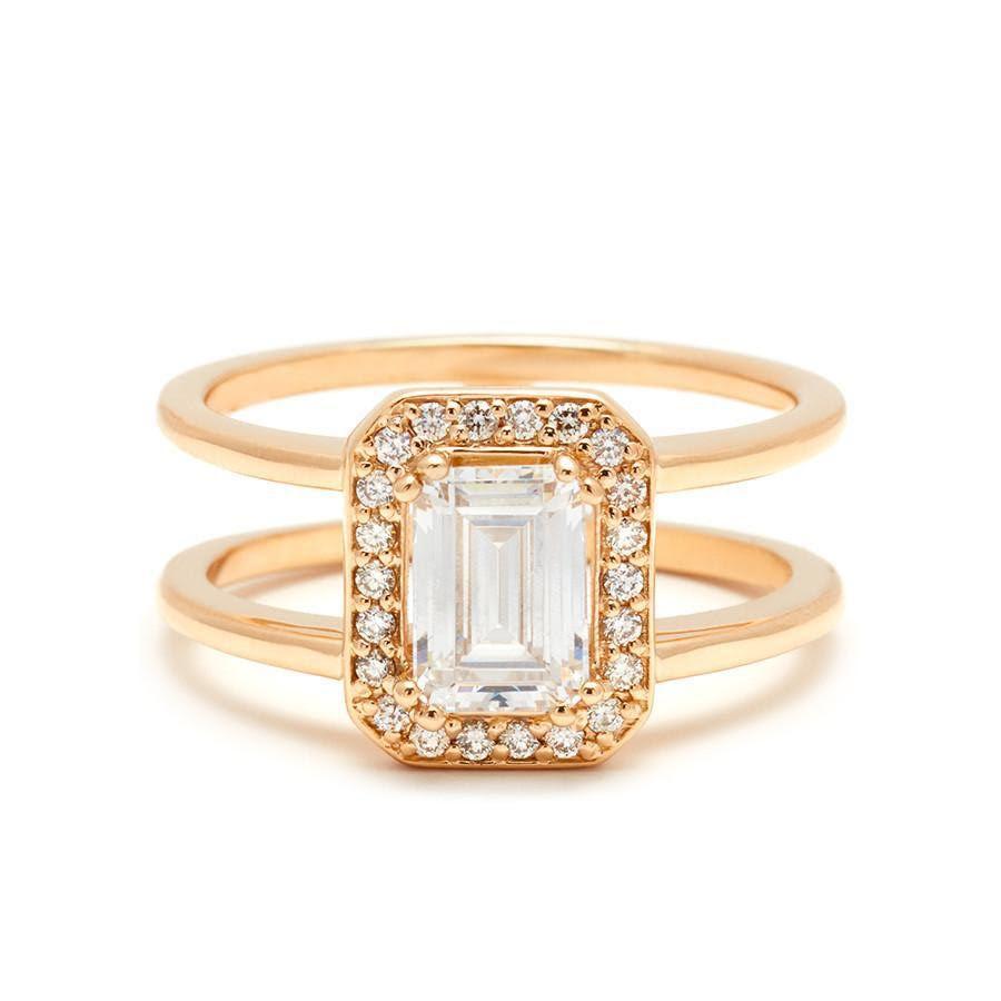 Anna Sheffield Attelage Ring Yellow Gold & White Diamond Ring