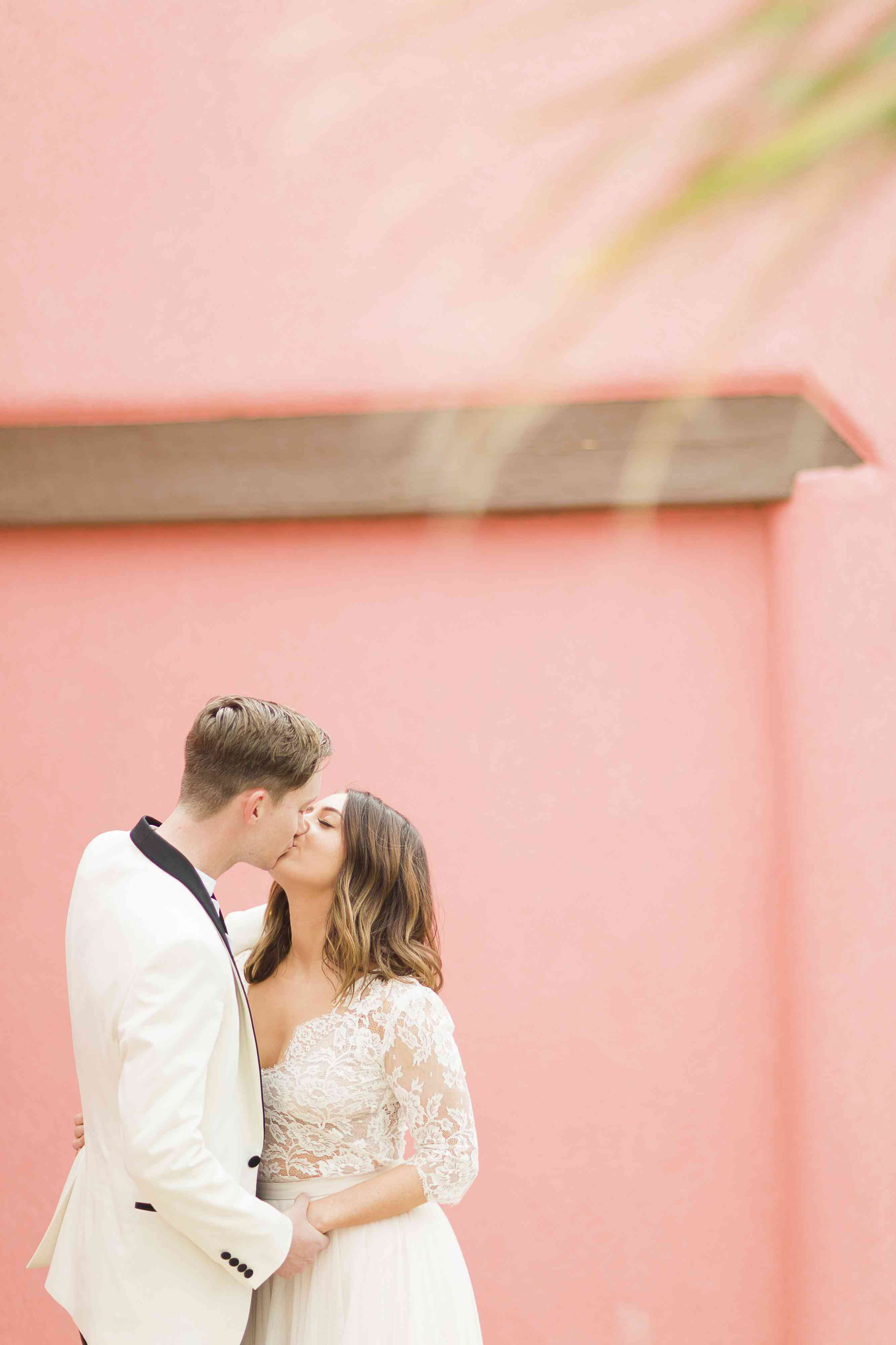 Colorful New Mexico Desert Wedding, Bride and Groom