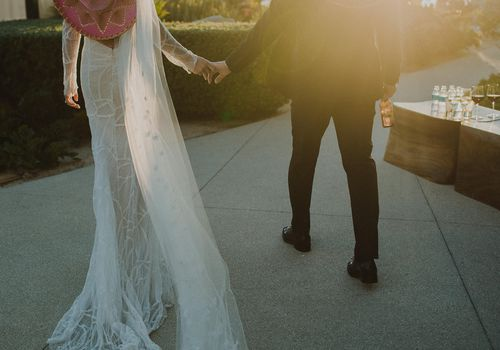 Bride and Groom in Sombreros