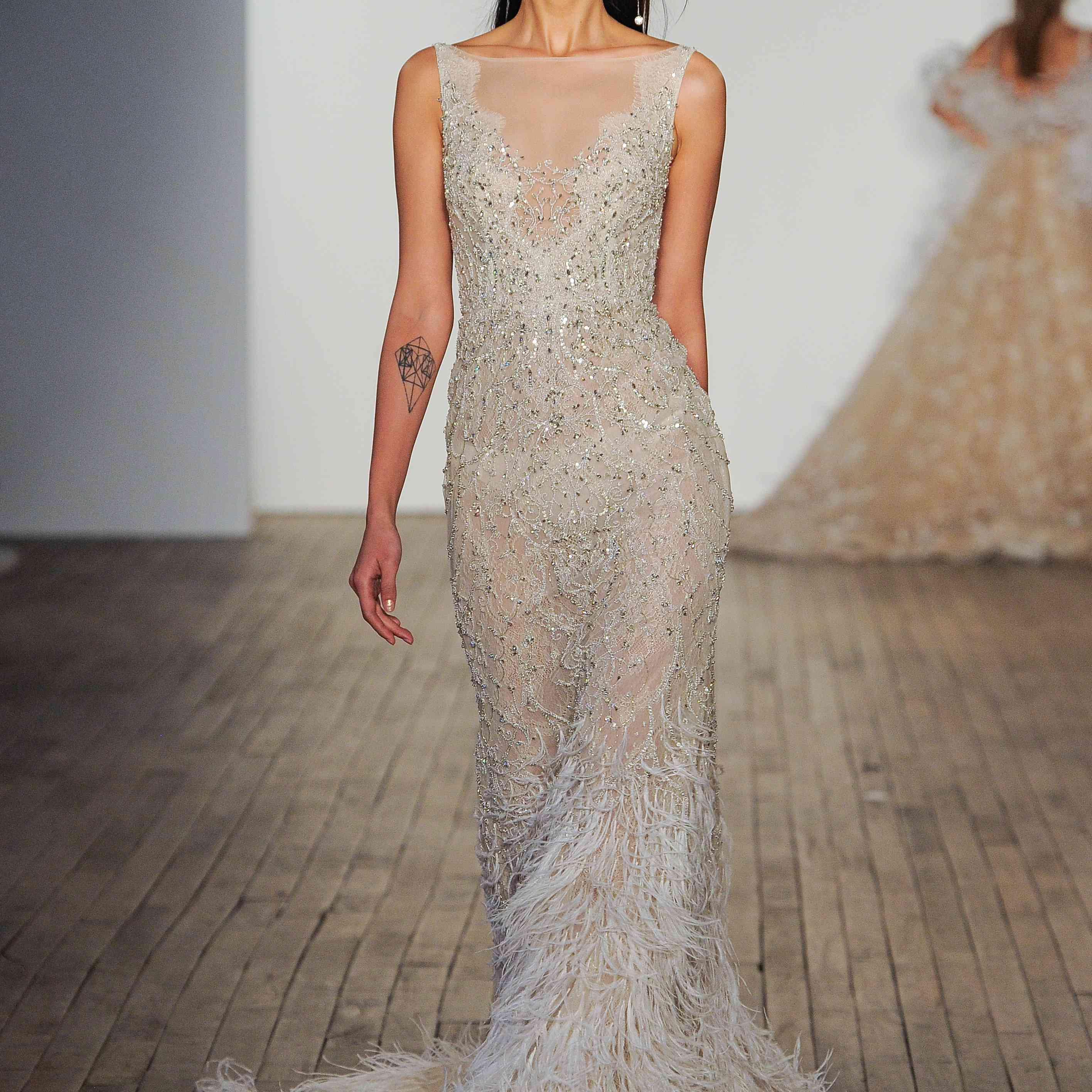 Cher sleeveless slip wedding dress