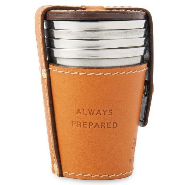 Duluth Trading Co. Best Made Shot Glasses with Leather