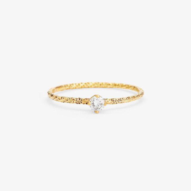 Satomi Kawakita Homespun Solitaire Diamond Ring