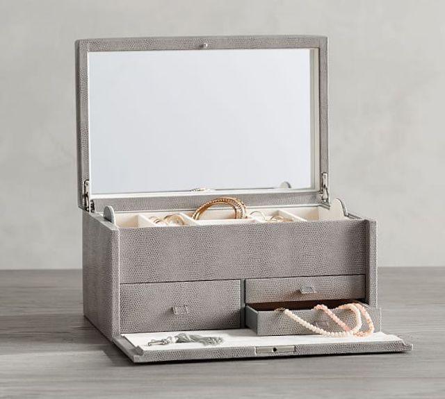 Personalized Leather Jewelry Box