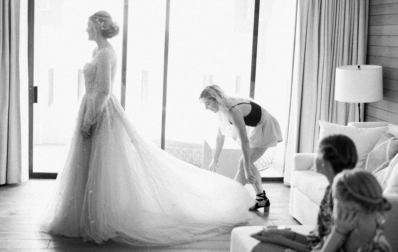 custom Hayley Paige wedding gown
