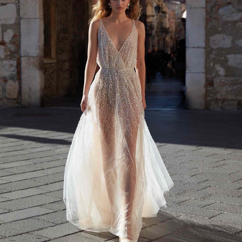 30 Stunning Silver Wedding Dresses For Bold Brides,80s Wedding Dress For Sale
