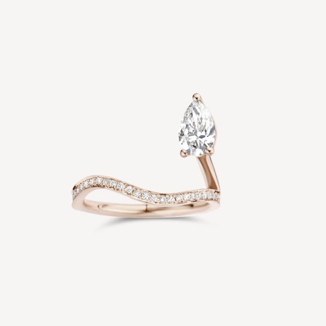 Kimai Recycled God Lab Diamond Engagement Ring