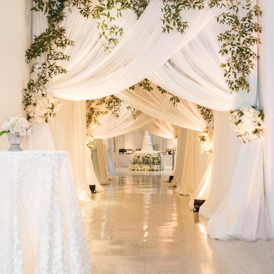 Image result for Drapes of cloth for wedding