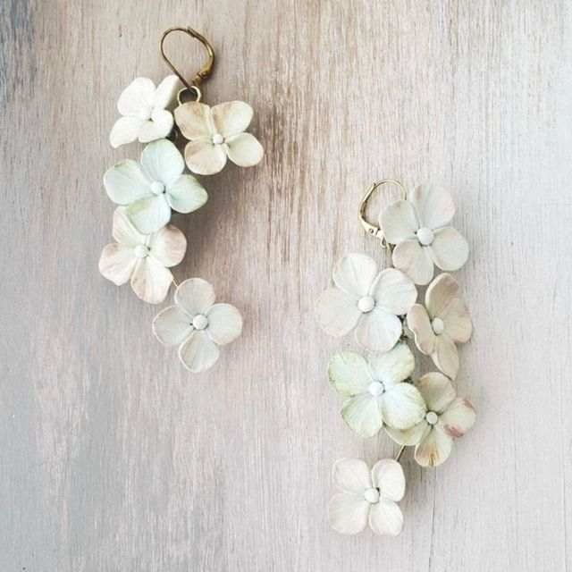Springtime Floral Rectangle Statement Earrings