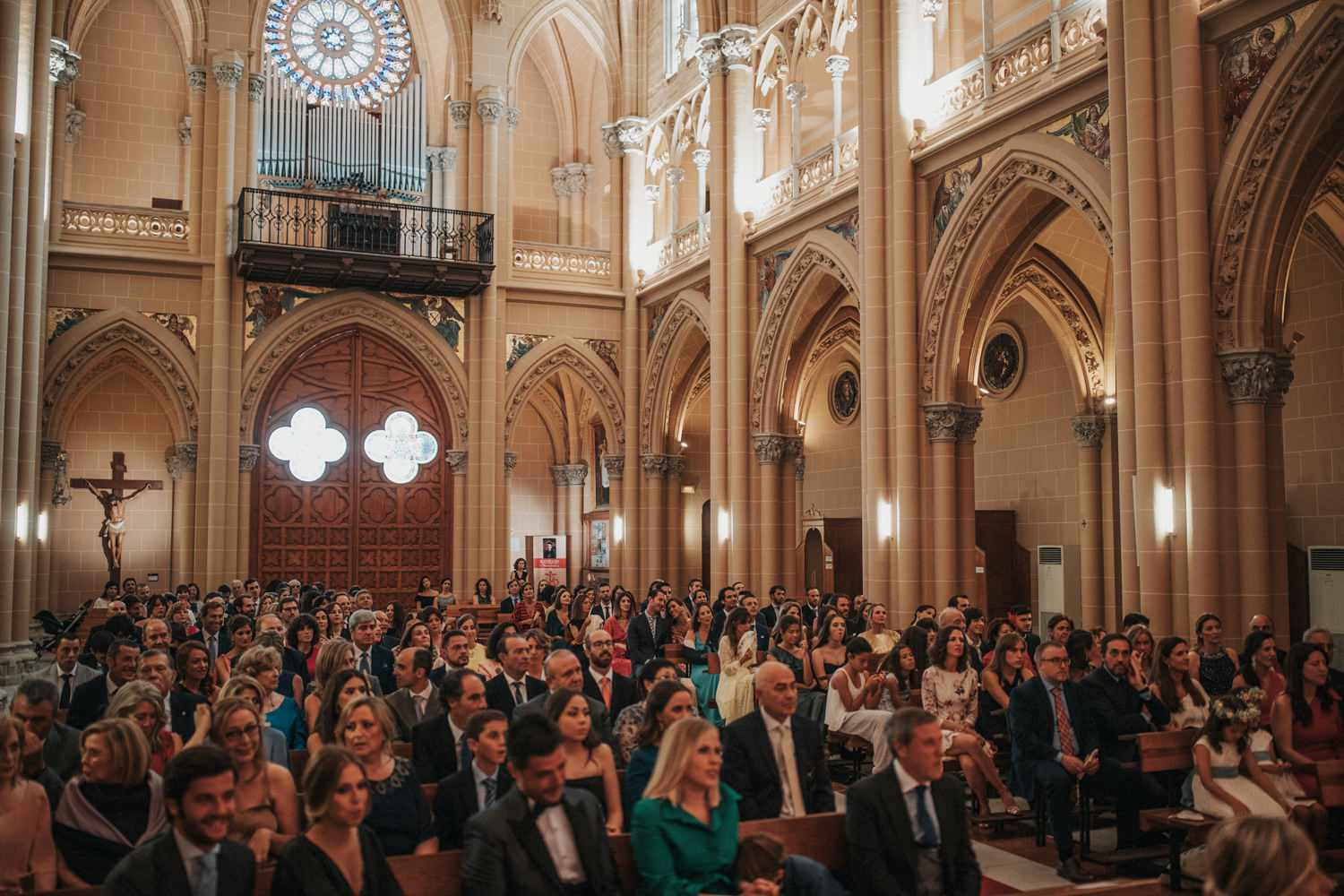<p>Guests at church ceremony</p><br><br>