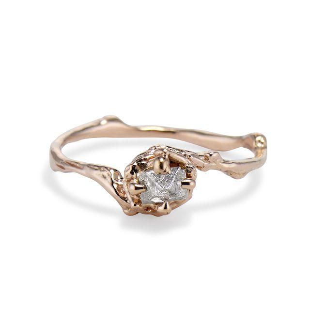 NAPLES ROUGH DIAMOND SOLITAIRE RING