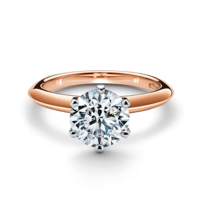 Tiffany & Co. The Tiffany Setting Engagement ring in 18k Rose Gold