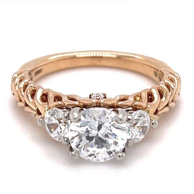 Ritani Three-Stone Braided Band Engagement Ring with Surprise Diamonds