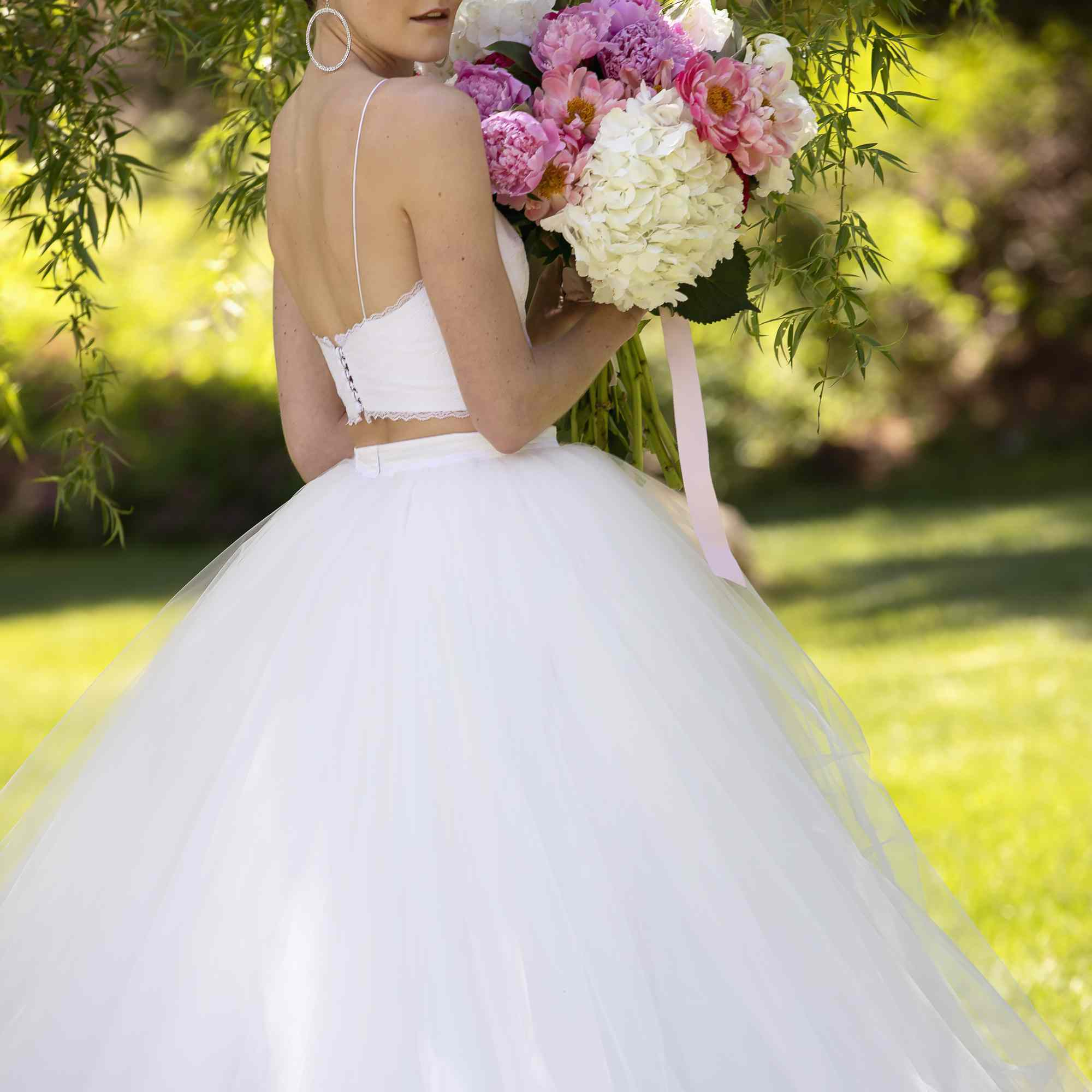 Two Piece bridal gown