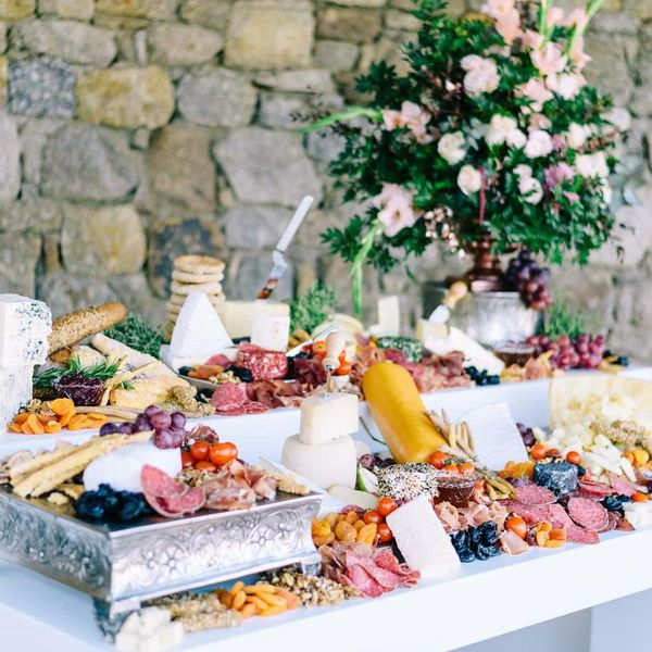 Wedding Cocktail Food Ideas: 17 Gorgeous Grazing Table Ideas