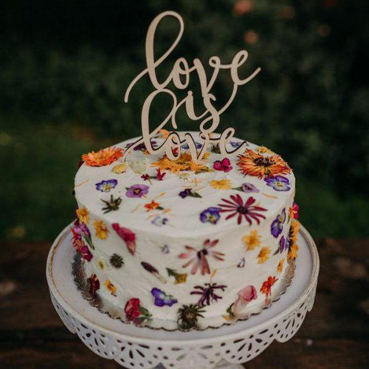 9 Pretty Wedding Cake Toppers You Can Buy Right Now