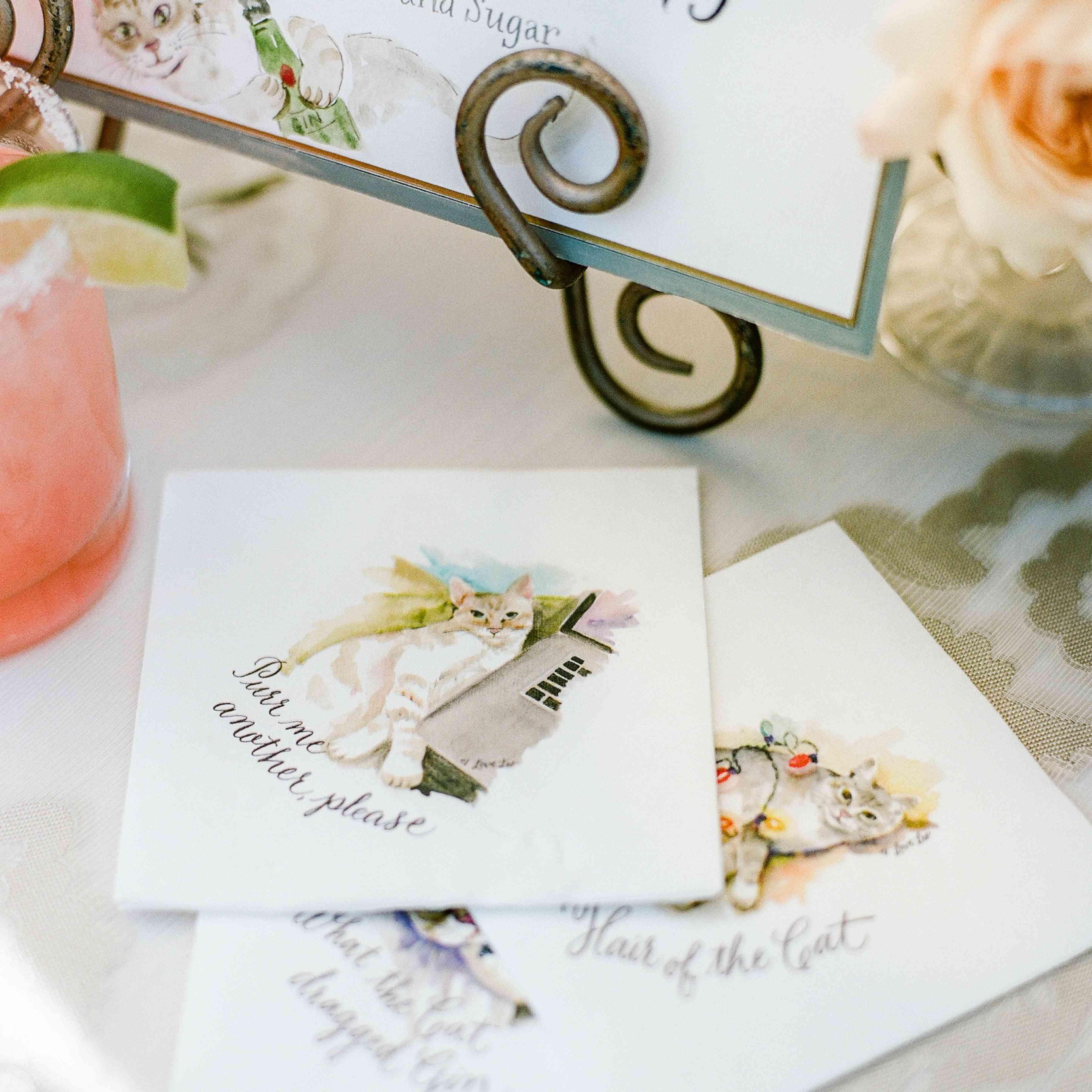 Custom wedding cocktail napkins
