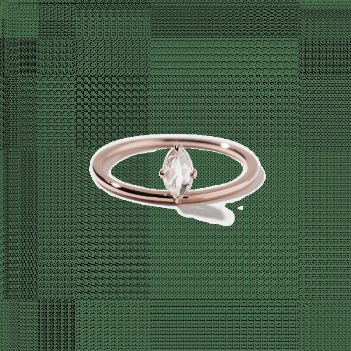 Simple Marquise-cut diamond ring